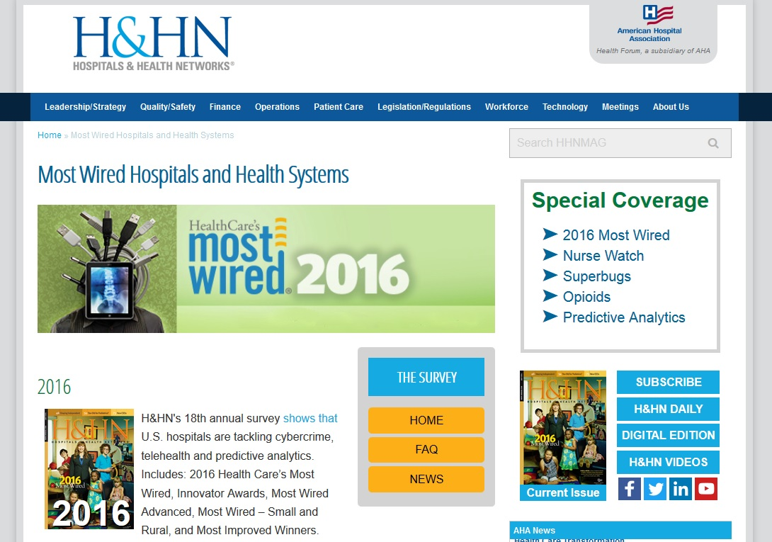 DMC Marks Decade On \'Most Wired\' List; 21 Michigan Hospitals Honored ...