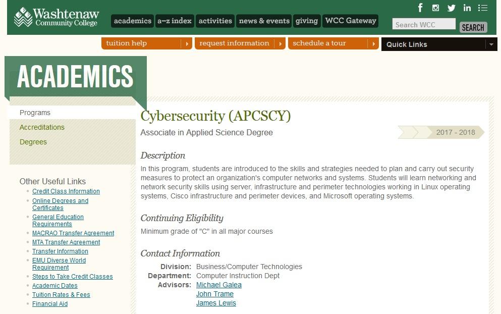 cyber security major