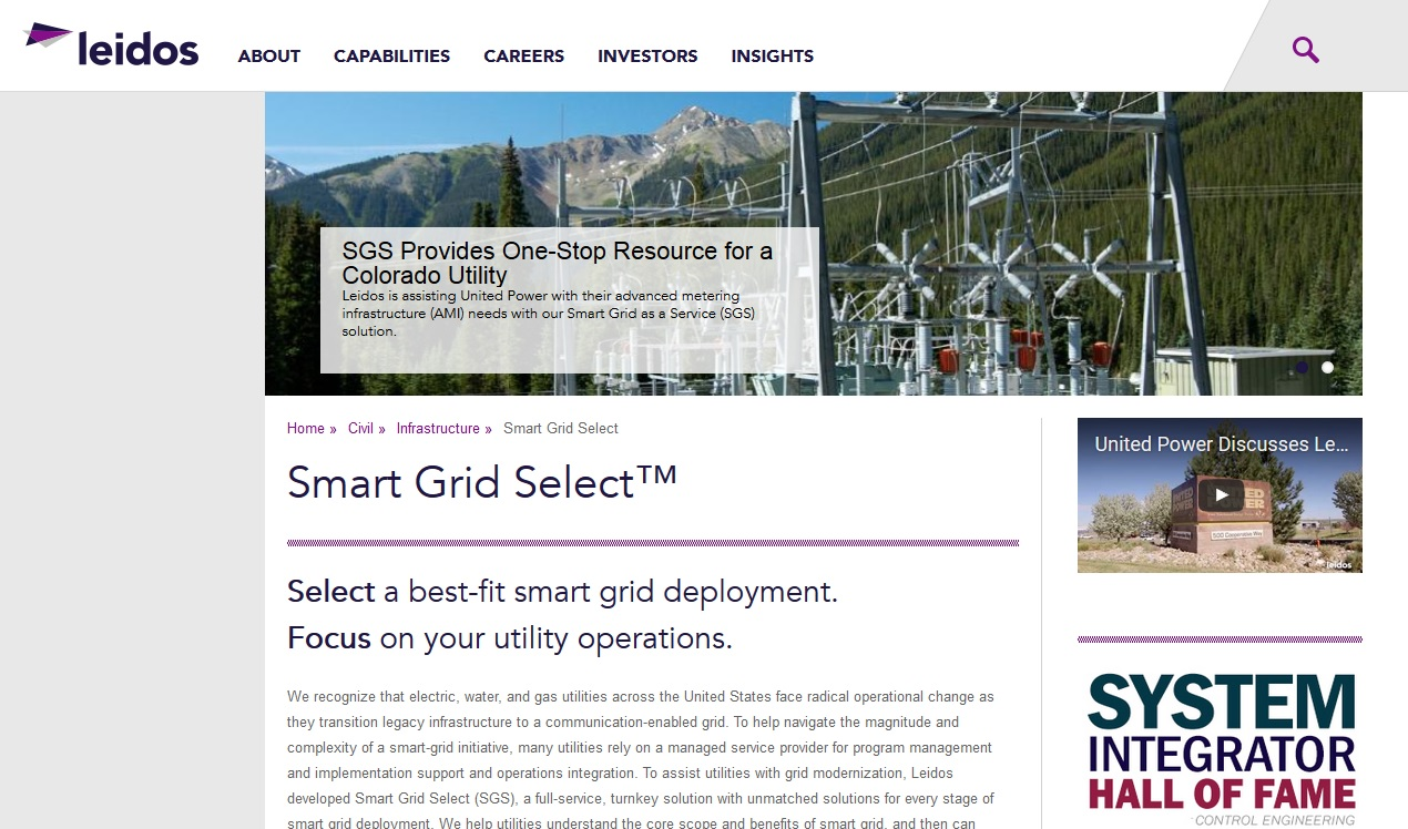 Leidos To Build Smart Grid For Lansing Water & Light